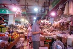Shenzhen, porcelana: rolnika rynek Zdjęcie Royalty Free