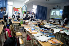 Shenzhen, porcelana: szkolna sala lekcyjna Obraz Royalty Free