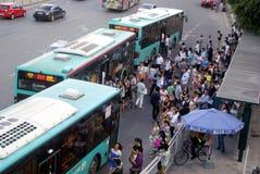 Shenzhen, porcelana: tráfego rodoviário da cidade Imagem de Stock