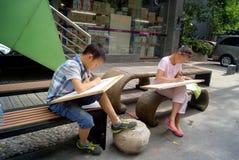 Shenzhen, porcelana: w obrazie ucznie Obrazy Stock