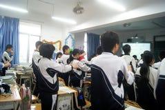Shenzhen, porcellana: insegnamento dell'aula della scuola Immagine Stock