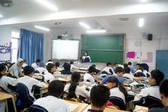 Shenzhen, porcellana: insegnamento dell'aula della scuola Fotografie Stock Libere da Diritti