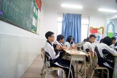 Shenzhen, porcellana: insegnamento dell'aula della scuola Fotografia Stock Libera da Diritti
