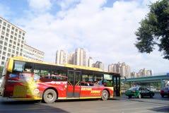 Shenzhen, porcellana: paesaggio di traffico stradale del cittadino 107 Fotografia Stock Libera da Diritti