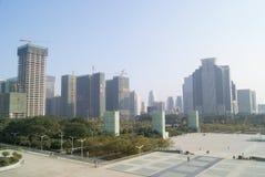 Shenzhen, porcellana: plaza del centro cittadino Fotografia Stock