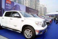 Shenzhen, porcellana: vendite delle automobili di seconda mano immagine stock libera da diritti