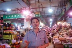 Shenzhen porslin: bondemarknad Arkivfoto
