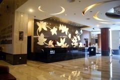 Shenzhen porslin: hotelllobbyen Royaltyfri Bild