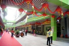 Shenzhen porslin: kommersiell gata för popo Arkivbilder