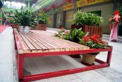 Shenzhen porslin: kommersiell gata för popo Arkivbild