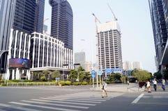 Shenzhen porslin: stadsbyggnad Arkivbild