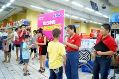 Shenzhen-Porzellan: Familienspaßspiele Stockbild