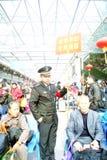 Shenzhen-Porzellan: Frühlingsfestival-Transportsek Stockfotos