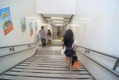 Shenzhen, Porzellan: U-Bahnstations-Landschaft Stockfotos