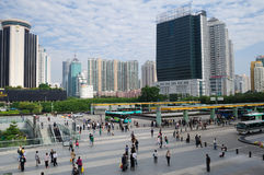Shenzhen railway station square Stock Photo