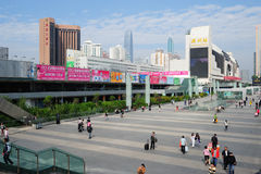 Shenzhen railway station square Stock Image