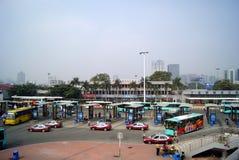 Shenzhen: Südende zum Grenzkontrolle sta stockbilder