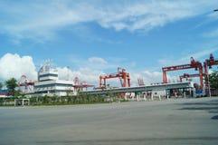 Shenzhen Shekou wharf SCT Royalty Free Stock Image