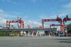 Shenzhen Shekou wharf SCT Stock Images