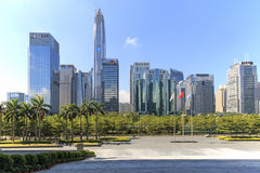 Shenzhen skyline as seen from the Stock Exchange building Royalty Free Stock Photos