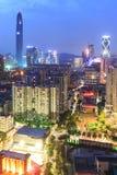 Shenzhen skyline at twilight Royalty Free Stock Images