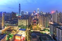 Shenzhen skyline at twilight Royalty Free Stock Photos