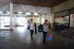Shenzhen Special Economic Zone Nantou checkpoints are being dismantled Royalty Free Stock Image