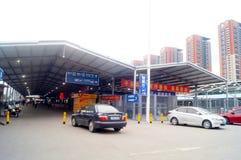 ShenZhen staci kolejowej zachodu krajobraz Fotografia Royalty Free