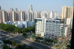 Shenzhen stad - Futian område Arkivbilder