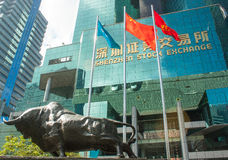 Shenzhen Stock Exchange Stock Images