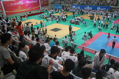 SHENZHEN taekwondo competition scene,CHINA,ASIA Stock Photo