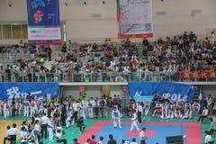 SHENZHEN taekwondo competition scene,CHINA,ASIA Royalty Free Stock Photos