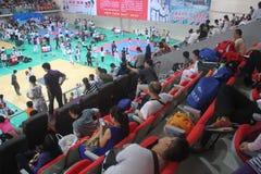 SHENZHEN taekwondo competition scene,CHINA,ASIA Royalty Free Stock Photo