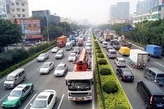 Shenzhen traffic congestion Stock Image