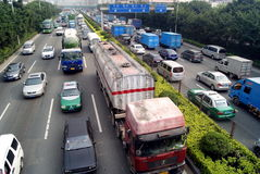 Shenzhen traffic congestion Royalty Free Stock Images