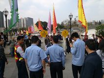 Shenzhen urban management in law enforcement, China Stock Photography