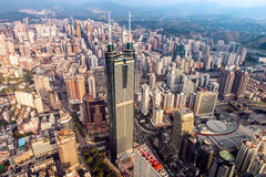 Shenzhen View from Above Stock Images