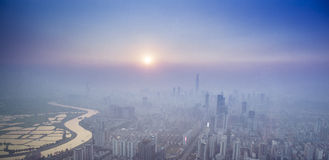 Shenzhen View from Above Royalty Free Stock Photos