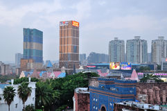 Shenzhen Windows of The World Surrounding buildings night Stock Photography