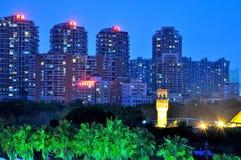 Shenzhen Windows of The World Surrounding buildings night Stock Image