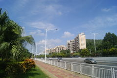 Shenzhen Xixiang Avenue traffic landscape Royalty Free Stock Photo
