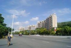 Shenzhen Xixiang Avenue traffic landscape Royalty Free Stock Photography