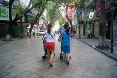 Shenzhen xixiang commercial pedestrian street, in China Royalty Free Stock Photo