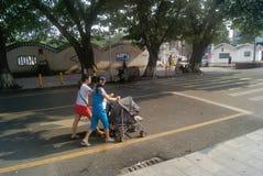 Shenzhen xixiang commercial pedestrian street, in China Stock Image