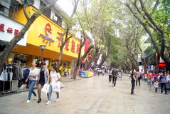 Shenzhen xixiang commercial pedestrian street, in china Stock Image