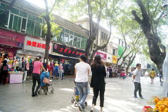 Shenzhen xixiang commercial pedestrian street, in china Royalty Free Stock Image
