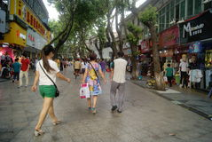 Shenzhen Xixiang commercial pedestrian street landscape, in China Stock Images