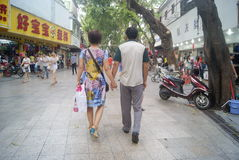Shenzhen Xixiang commercial pedestrian street landscape, in China Stock Photo