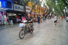 Shenzhen Xixiang commercial pedestrian street landscape, in China Stock Image