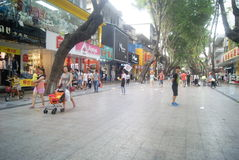 Shenzhen Xixiang commercial pedestrian street landscape, in China Royalty Free Stock Images